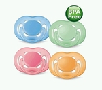 Philips AVENT Contemporary Freeflow 2-Pack Pacifiers (for Infants 0-6 Months, BPA Free)