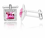 Pink Crystal Jewellery Cufflinks