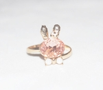 'Pink Crystal Rabbit' Ring