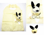 Polyester Recycle Bag with Cute Yellow Dog Design