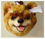 Pomeranian Porcelain Decor Ornament & Novelty Item