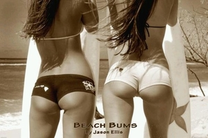 "Poster Art - Sexy Beach Bums (size 24"" by 36"")"