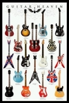 "Poster of Famous Guitars (size 24"" by 36"")"