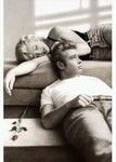 "Poster of James Dean & Marilyn Monroe  (size 24"" by 36"")"