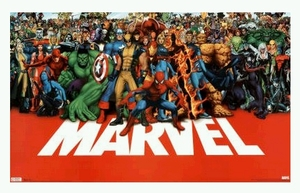 "Poster of Marvel Comics Superheroes   (size 24"" by 36"")"