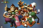 "Poster of Nintendo's Super Mario Characters  (size 24"" by 36"")"