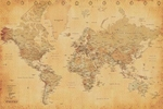 "Poster of Vintage World Map  (size 24"" by 36"")"