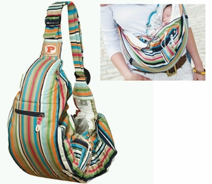 PreMaxx Baby Sling Bag Carrier (rainbow stripes)