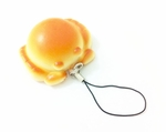 Puffy Crab 'Bread' Phone Charm (with Pastry Smell)