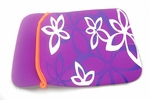 "Purple Flower Motif Laptop Sleeve (10"" inch)"