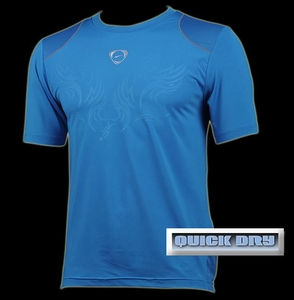 'Quick Dry' Sports Shirt (Blue, Wings)