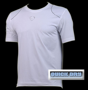 'Quick Dry' Sports Shirt (White, Wings)