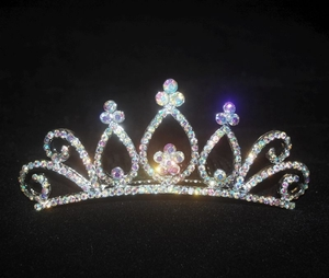Rainbow Crystal Tiara for Girls