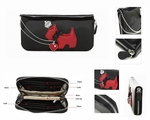 Red/Black Korean Style Wallet with Cute Dog Design