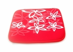 "Red Flower Motif Laptop Sleeve (14"" inch)"