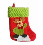 Reindeer Christmas Stocking (Small, 20cm long)