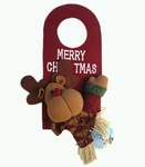 Reindeer Door-knob Christmas Decor (25cm tall)