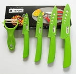 "BERYL Ceramic Knives Set (3"" 4"" 5"" 6"" blades with Peeler)"