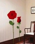Rose Flower Motif  - PVC Wall Decal Sticker