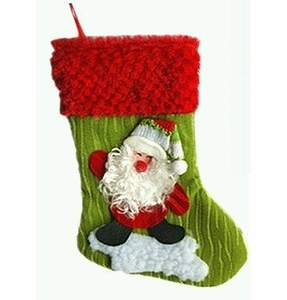 Santa Claus Christmas Stocking (Small, 20cm long)