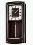Seiko Wall Clock with a Brown Modern Pendulum Design