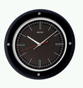 Seiko Wall Clock with a chic Black Round Design