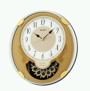 Seiko Wall Clock with Gold Oval Design