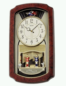 Seiko Wall Clock with Intricate Motion Mechanisms