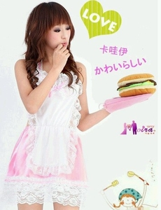 Sexy Chef/Maid Costume Lingeries (Pink Color)