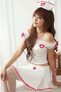 Sexy Nurse Costume Lingerie (White Color)