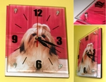 Shih Tzu Wall Clock with Glass Panel