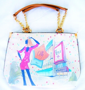 'Shopping Spree' Ladies Leather Bag