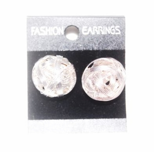 'Silver Shambala' Stud Earrings
