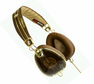 Skullcandy ROC Nation Aviator Headphones (Brown/Gold)