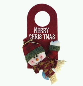 Snowman Door-knob Christmas Decor (25cm tall)