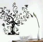 Spiral Tree Motif - PVC Wall Decal Sticker