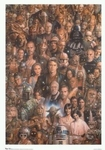 "Star Wars Characters Movie Poster   (size 24"" by 36"")"