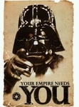 "Star Wars Movie Poster - The Empire Wants You (size 24"" by 36"")"