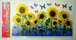 Sunflowers & Butterflies - PVC Wall Decal Sticker