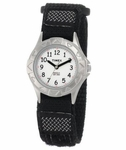 TIMEX Boy's Stainless Steel Velcro Strap Kids Watch