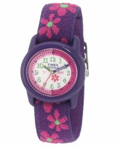 "TIMEX Girl's Pink Floral ""Time Teacher"" Kids Watch"