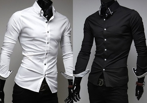 Trendy Long Sleeve Men's Shirt