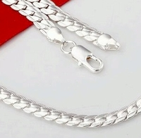 Trendy Mens 925 Silver Necklace (22 inch length)