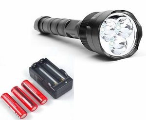 Trustfire 3800 Lumens TR-3T6 Flashlight (with Rechargable Batteries & Charger)