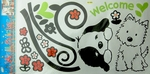 Two Cute Dogs - PVC Wall Decal Sticker
