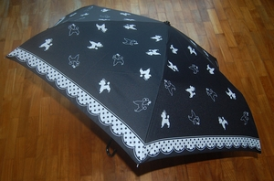 Umbrella featuring Poodle Designs (Black Color)