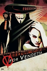 "V for Vendetta Movie Poster (size 24"" by 36"")"