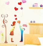 Valentines Lovers Theme - PVC Wall Decal Sticker