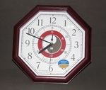 Wall Clock with Octagonal Oriental Design