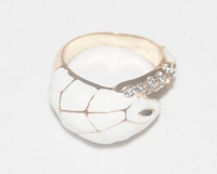 'White Cobra' Snake Motif Ring